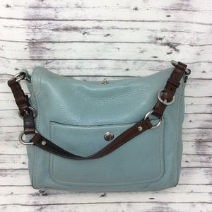 COACH-Chelsea Mint Green Pebbled Leather Handbag